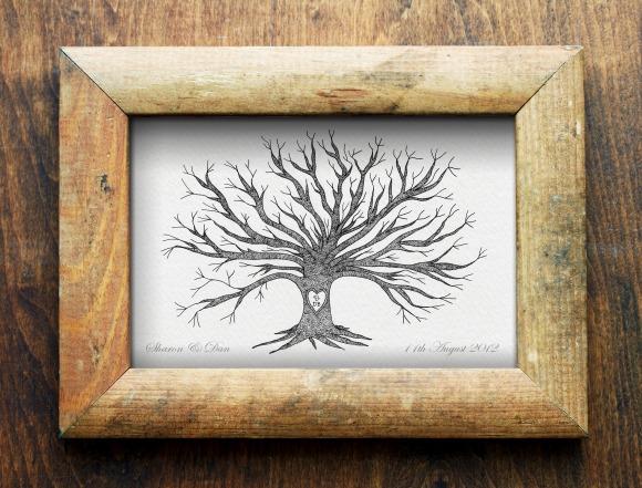 Wedding finger print tree commission